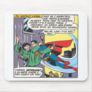 Superman Comic Panel - Lois An Instant Later Mouse Mat