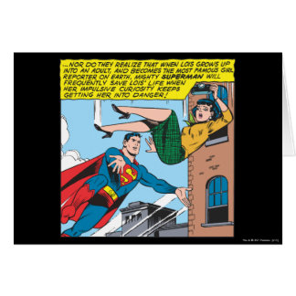 Superman Comic Panel - Saving Lois Card