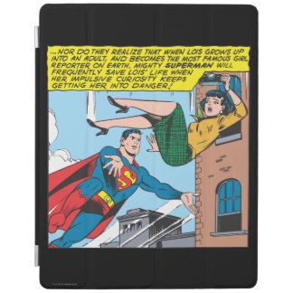 Superman Comic Panel - Saving Lois iPad Cover