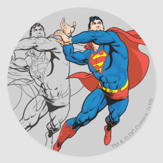 Superman Comic Panels Classic Round Sticker