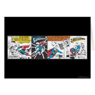 Superman Comic Panels Greeting Card