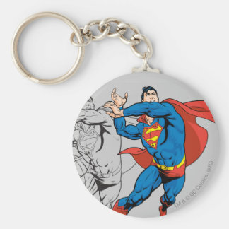 Superman Comic Panels Key Ring