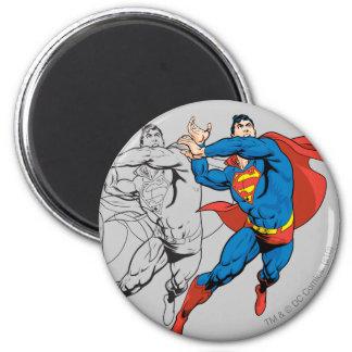 Superman Comic Panels 6 Cm Round Magnet