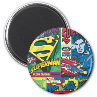Superman Comic Panels Refrigerator Magnets