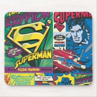 Superman Comic Panels Mouse Mat