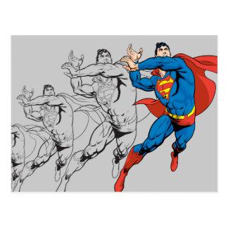 Superman Comic Panels Postcard