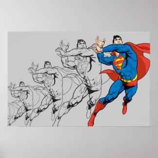 Superman Comic Panels Poster