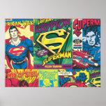 Superman Comic Panels Posters