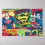 Superman Comic Panels Print