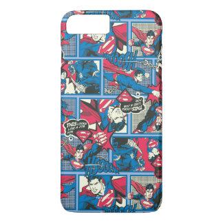 Superman Comic Pattern iPhone 8 Plus/7 Plus Case