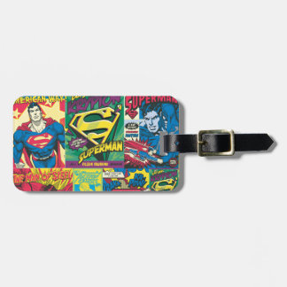 Superman Comic Strip Luggage Tag