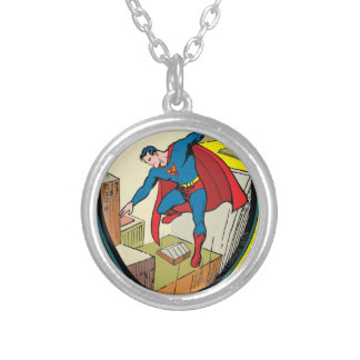 Superman (Complete Story) Silver Plated Necklace