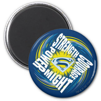 Superman Courage Strength Might Power 6 Cm Round Magnet