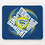Superman Courage Strength Might Power Mouse Pad