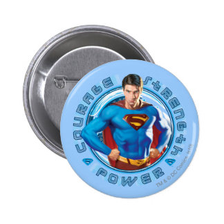Superman Courage Strength Power 6 Cm Round Badge