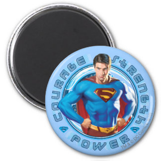 Superman Courage Strength Power 6 Cm Round Magnet