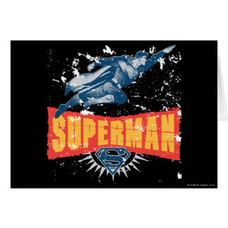 Superman distressed greeting card