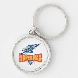 Superman distressed key chain