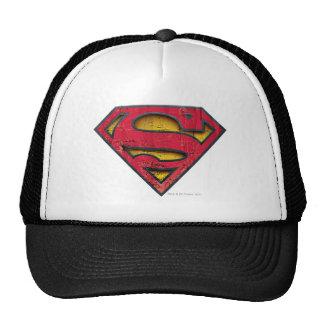Superman Distressed Logo Hats