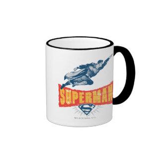 Superman distressed ringer coffee mug