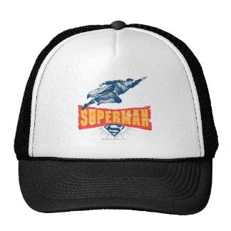 Superman distressed trucker hat