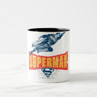 Superman distressed Two-Tone coffee mug