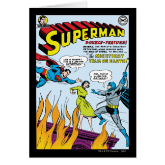 Superman Double-Feature with Batman Greeting Cards