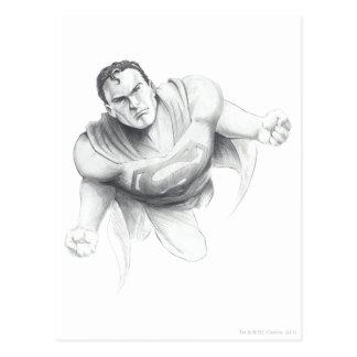 Superman Drawing Postcard