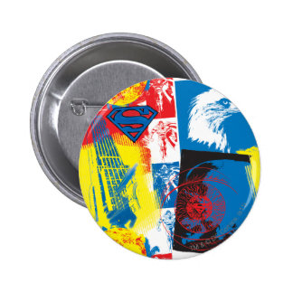 Superman Eagle Collage 6 Cm Round Badge