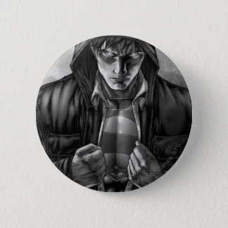 Superman Earth Cover - Black and White 6 Cm Round Badge