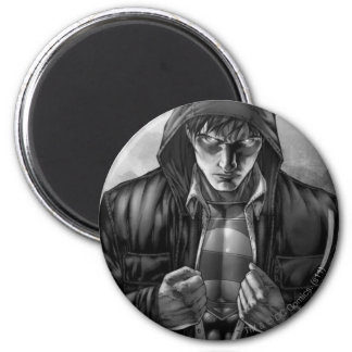 Superman Earth Cover - Black and White 6 Cm Round Magnet