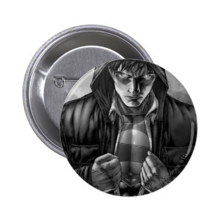 Superman Earth Cover - Black and White Pinback Button