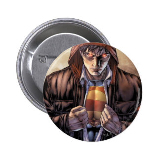 Superman Earth Cover - Color 6 Cm Round Badge