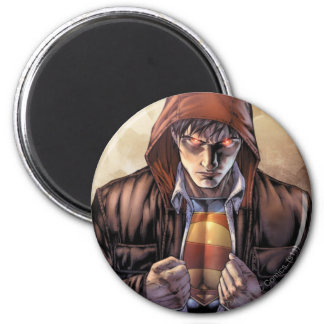 Superman Earth Cover - Color 6 Cm Round Magnet