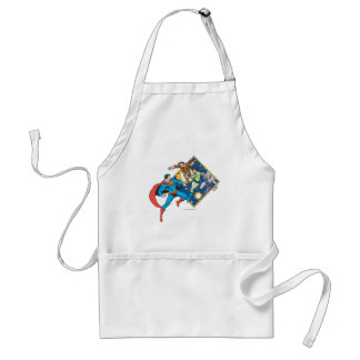 Superman Fights Enemies Aprons