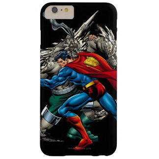 Superman Fights Enemy Barely There iPhone 6 Plus Case