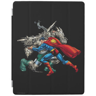 Superman Fights Enemy iPad Cover