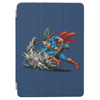 Superman Fights Monster iPad Air Cover