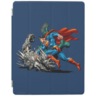 Superman Fights Monster iPad Cover