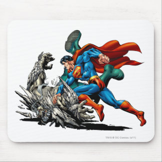 Superman Fights Monster Mouse Pad