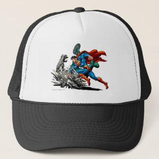 Superman Fights Monster Trucker Hat
