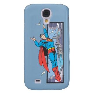 Superman Flies Thru City Galaxy S4 Case