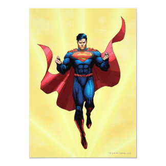 Superman Flying 13 Cm X 18 Cm Invitation Card