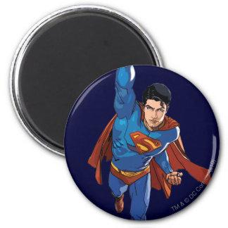 Superman Flying Forward 6 Cm Round Magnet