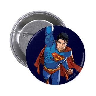 Superman Flying Forward 6 Cm Round Badge
