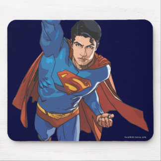 Superman Flying Forward Mouse Mat