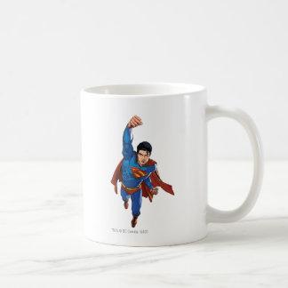 Superman Flying Forward Coffee Mugs