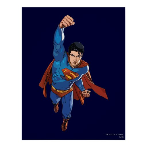Superman Flying Forward Posters
