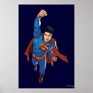 Superman Flying Forward Print