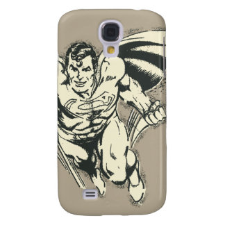 Superman Flying Grunge Galaxy S4 Case